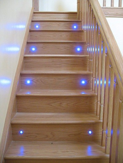 Lighting Basement Washroom Stairs: Glass Stairs, Donegal. Stairs With Lights, Oak Cut